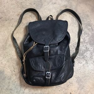Tarnsjo Garveri Sweden Black Leather Backpack